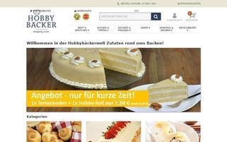 Hobbybäcker Webseiten Screenshot