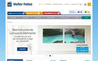 Hofer Foto Webseiten Screenshot