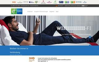 Holiday Inn Express Webseiten Screenshot