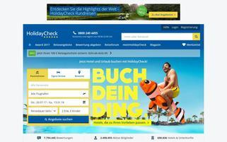 holidaycheck.de Webseiten Screenshot