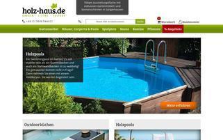 Holz-Haus.de Webseiten Screenshot