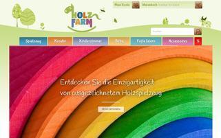 Holzfarm Webseiten Screenshot