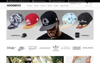HoodBoyz Webseiten Screenshot