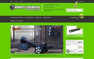 HORNYS-LEDSHOP Webseiten Screenshot