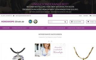 Horoskope Direkt Webseiten Screenshot