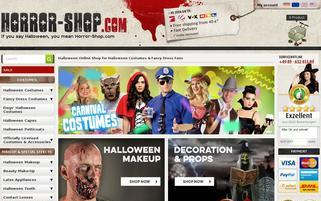 Horror Shop Webseiten Screenshot