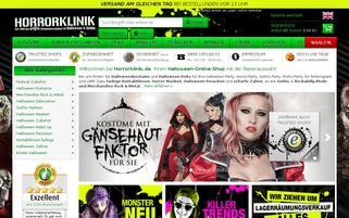 Horrorklinik Webseiten Screenshot