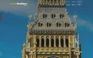 Hostelbookers Webseiten Screenshot