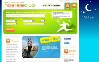 Hostelsclub Webseiten Screenshot