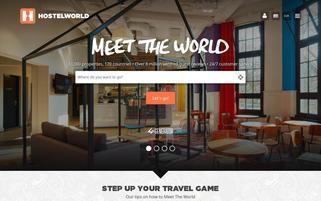 HostelWorld Webseiten Screenshot