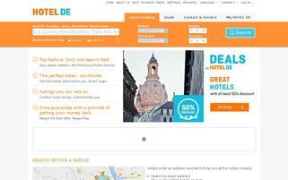 HOTEL DE Webseiten Screenshot
