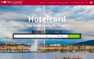Hotelcard Webseiten Screenshot