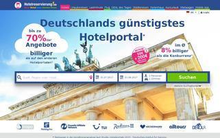 Hotelreservierung.de Webseiten Screenshot