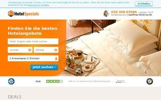 HotelSpecials Webseiten Screenshot