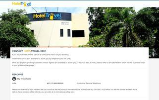 HotelTravel Webseiten Screenshot