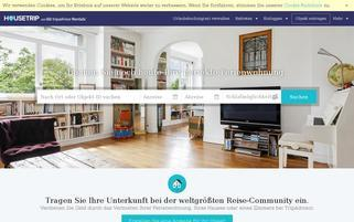 HouseTrip Webseiten Screenshot