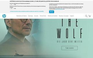HP Webseiten Screenshot