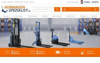 Hubwagen Spezialist Webseiten Screenshot