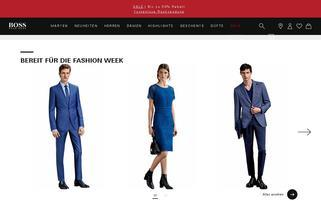 Hugo Boss Webseiten Screenshot