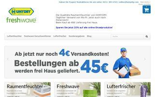Humydry Webseiten Screenshot