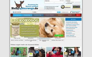 Hund Unterwegs Webseiten Screenshot