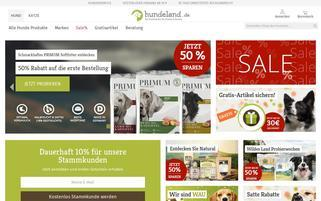 Hundeland Webseiten Screenshot
