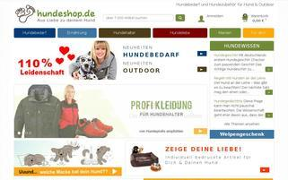 Hundeshop Webseiten Screenshot
