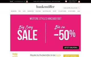 hunkemoller.de Webseiten Screenshot