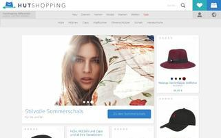 Hutshopping Webseiten Screenshot