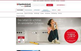Hypovereinsbank Webseiten Screenshot