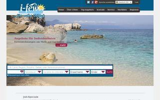 i-fewo Webseiten Screenshot