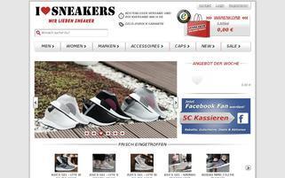 I love Sneakers Webseiten Screenshot