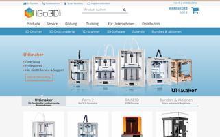iGo3D Webseiten Screenshot