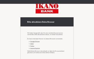 Ikano Bank Webseiten Screenshot