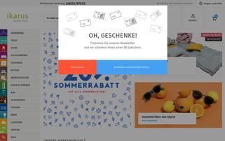 Ikarus Webseiten Screenshot