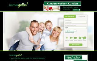 Immergrün Energie Webseiten Screenshot