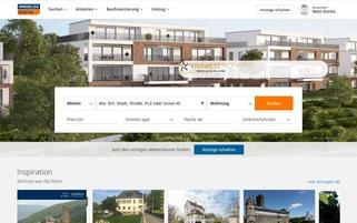ImmobilienScout24 Webseiten Screenshot