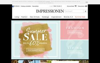 Impressionen Webseiten Screenshot