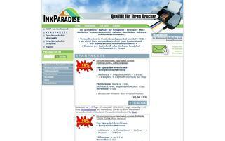 Ink-Paradise Webseiten Screenshot