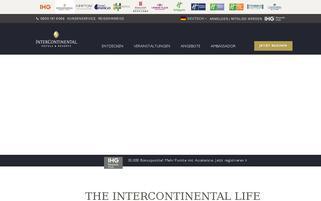 InterContinental Webseiten Screenshot