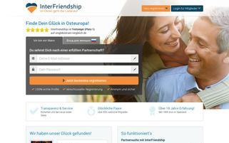 interfriendship.de Webseiten Screenshot