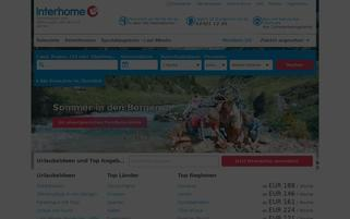 interhome.de Webseiten Screenshot