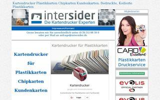 Intersider Webseiten Screenshot