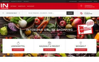 Interspar Webseiten Screenshot