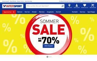Intersport Österreich Webseiten Screenshot