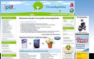 iPill Webseiten Screenshot