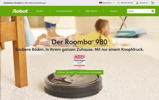 iRobot Webseiten Screenshot