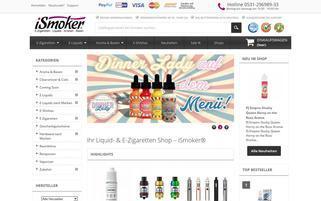 ismoker.eu Webseiten Screenshot