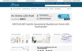 Isolicht Webseiten Screenshot