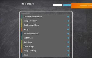 Italia Shop Webseiten Screenshot